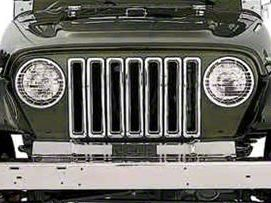 Smittybilt Chrome Plastic Grille Inserts (97-06 Jeep Wrangler TJ)