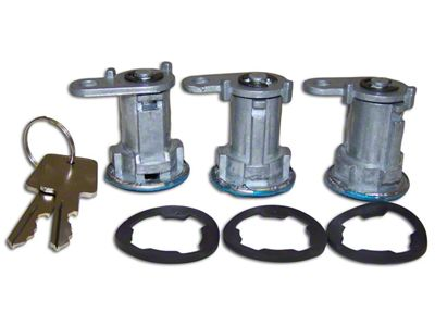 3 Door Lock Cylinder Kit (87-90 Jeep Wrangler YJ w/ Full Steel Doors)
