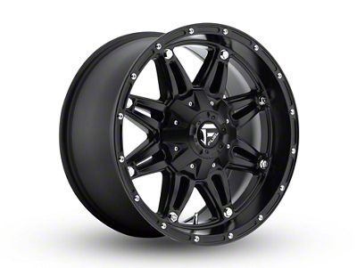 Fuel Wheels Revolver Black Milled Wheel - 17x9 (87-18 Jeep Wrangler YJ, TJ, JK & JL)