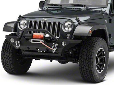 RedRock 4x4 Euro Fog Light Guards - Black (07-18 Jeep Wrangler JK)