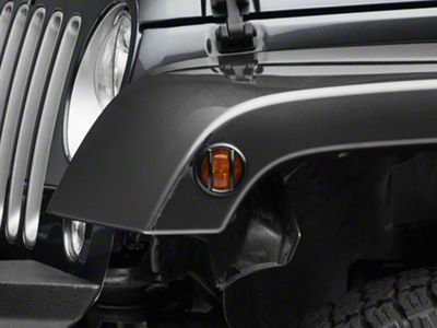 RedRock 4x4 Euro Side Marker Light Guards (07-18 Jeep Wrangler JK)