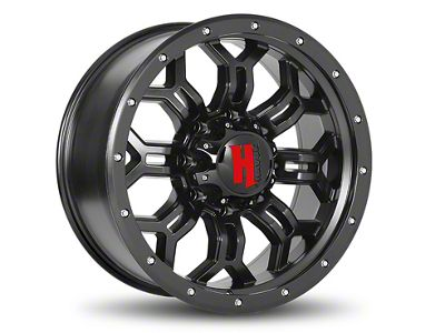 Havok Off-Road H-108 Matte Black Wheel - 20x12 (07-18 Jeep Wrangler JK; 2018 Jeep Wrangler JL)