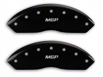 MGP Black Caliper Covers w/ MGP Logo - Front & Rear (03-06 Jeep Wrangler TJ w/ Rear Disc Brakes)