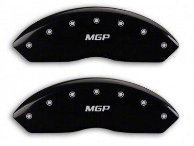 MGP Black Caliper Covers w/ MGP Logo - Front Only (97-06 Jeep Wrangler TJ)