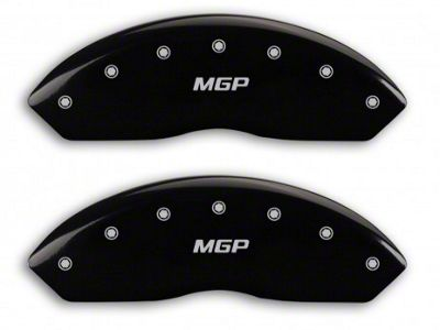 MGP Matte Black Caliper Covers w/ MGP Logo - Front & Rear (07-18 Jeep Wrangler JK)
