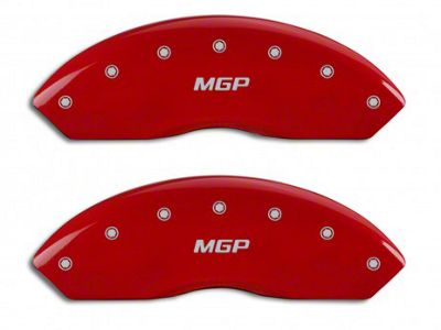 MGP Red Caliper Covers w/ MGP Logo - Front Only (97-06 Jeep Wrangler TJ)