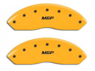 MGP Yellow Caliper Covers w/ MGP Logo - Front & Rear (03-06 Jeep Wrangler TJ w/ Rear Disc Brakes)