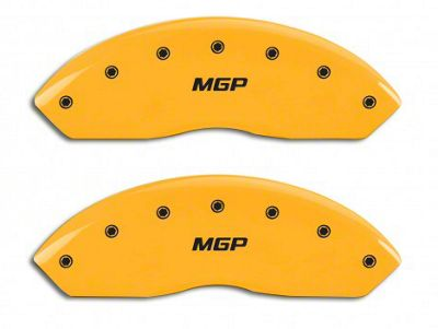 MGP Yellow Caliper Covers w/ MGP Logo - Front & Rear (07-18 Jeep Wrangler JK)