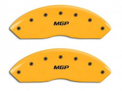 MGP Yellow Caliper Covers w/ MGP Logo - Front Only (97-06 Jeep Wrangler TJ)