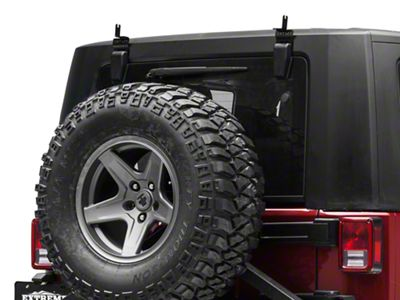 ZRoadz 30 in. Slim LED Light Bar Rear Window Hinge Mounting Brackets (07-18 Jeep Wrangler JK)