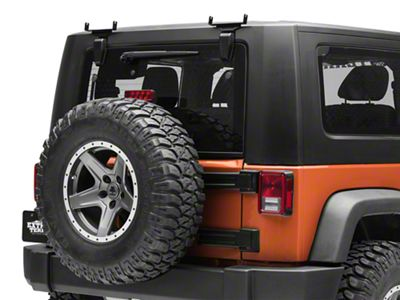 ZRoadz 6 in. Slim LED Light Bars Rear Window Hinge Mounting Brackets (07-18 Jeep Wrangler JK)
