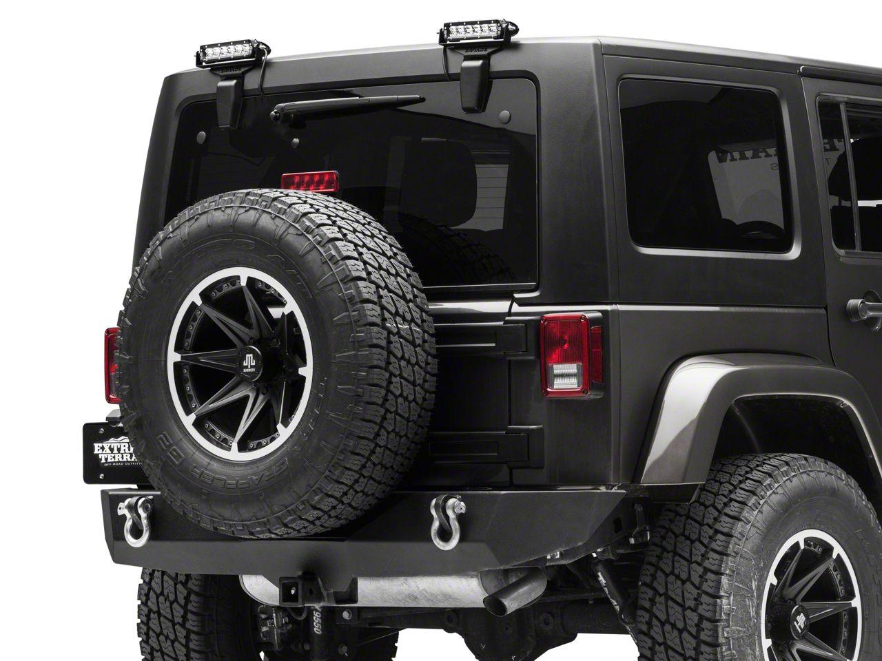 ZRoadz Two 6 in. LED Light Bars w/ Rear Window Hinge Mounting Brackets (07-18 Jeep Wrangler JK)