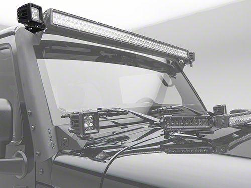 ZRoadz 3 in. LED Light Cube Roof Side Mounting Brackets (07-18 Jeep Wrangler JK)