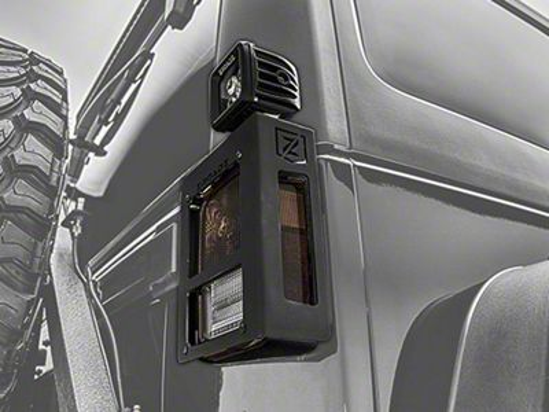 ZRoadz 3 in. LED Light Cubes w/ Tail Light Cage Mounting Brackets (07-18 Jeep Wrangler JK)