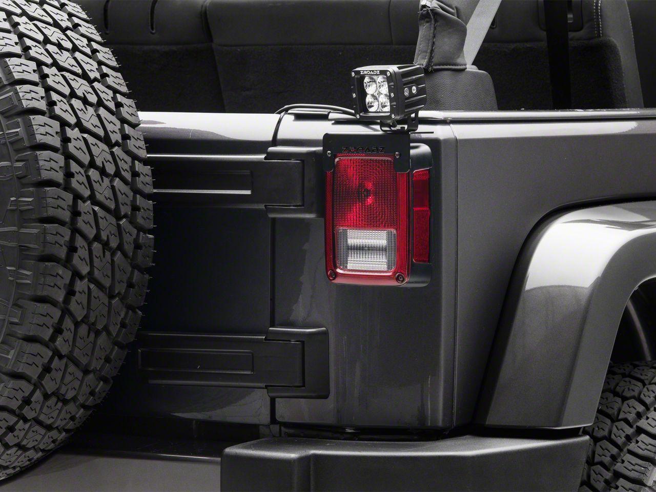 ZRoadz 3 in. LED Light Cubes w/ Rear Tail Light Mounting Brackets (07-18 Jeep Wrangler JK)