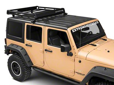 Barricade Removable Hard Top Roof Basket (07-18 Jeep Wrangler JK)