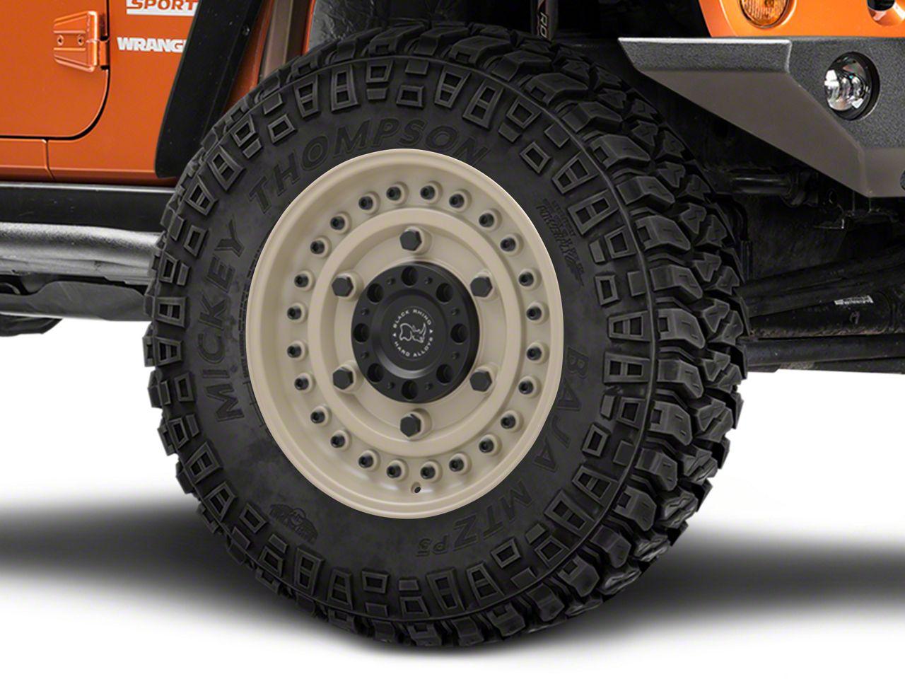 Black Rhino Armory Desert Sand Wheel - 20x9.5 (07-18 Jeep Wrangler JK; 2018 Jeep Wrangler JL)