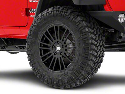 Black Rhino Kruger Gloss Black Wheels (07-18 Jeep Wrangler JK; 2018 Jeep Wrangler JL)