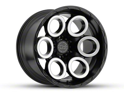 Black Rhino Magnus Matte Black Machined Wheels (07-18 Jeep Wrangler JK)