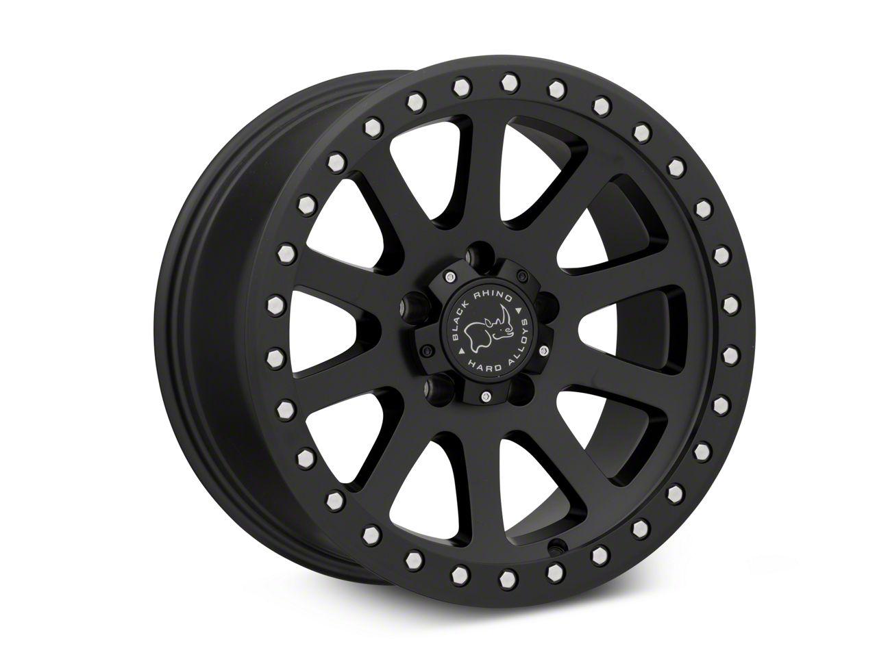 Black Rhino Mint Matte Black Wheels (07-18 Jeep Wrangler JK; 2018 Jeep Wrangler JL)
