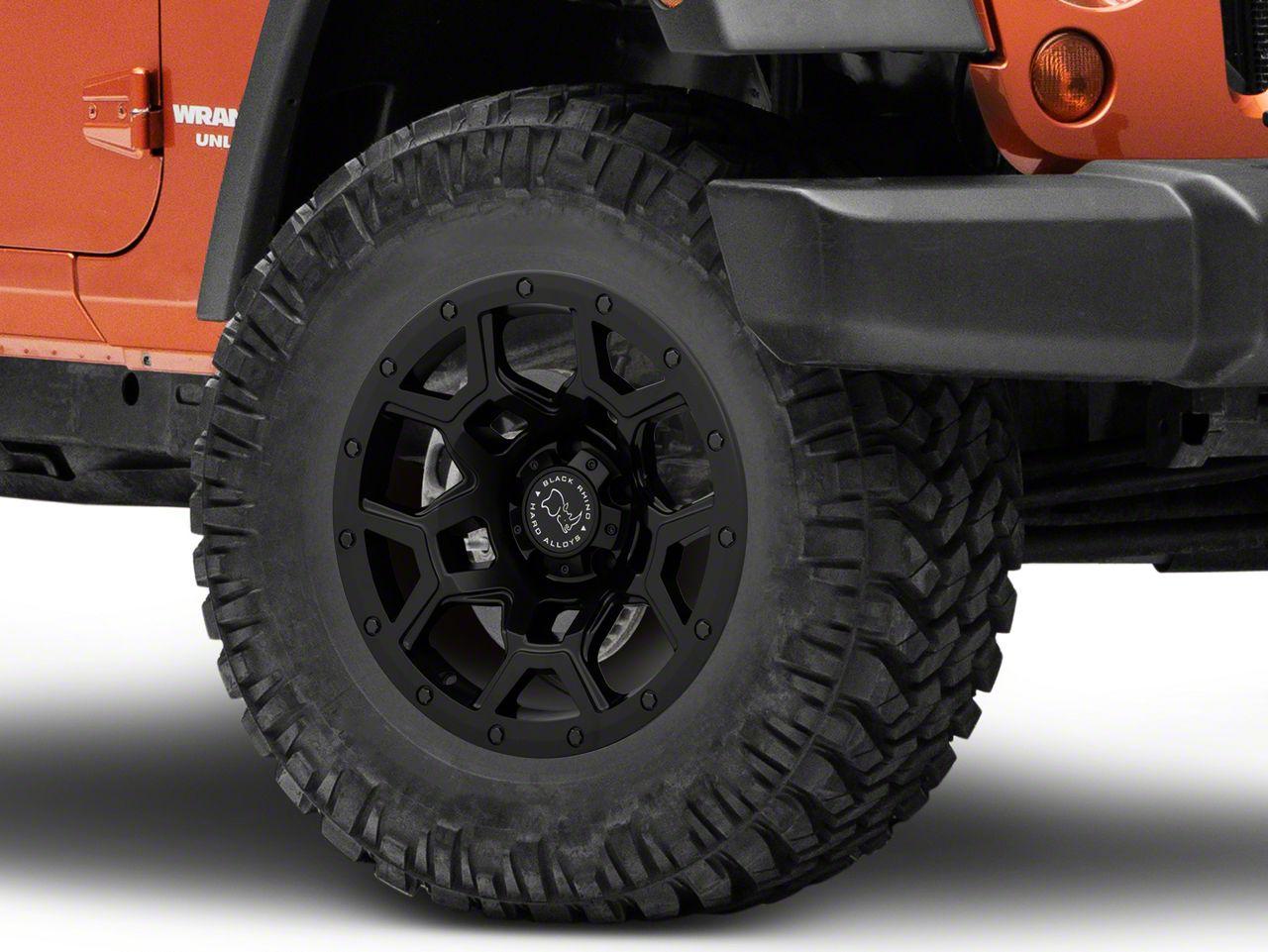 Black Rhino Overland Matte Black Wheel - 17x9.5 (07-18 Jeep Wrangler JK; 2018 Jeep Wrangler JL)