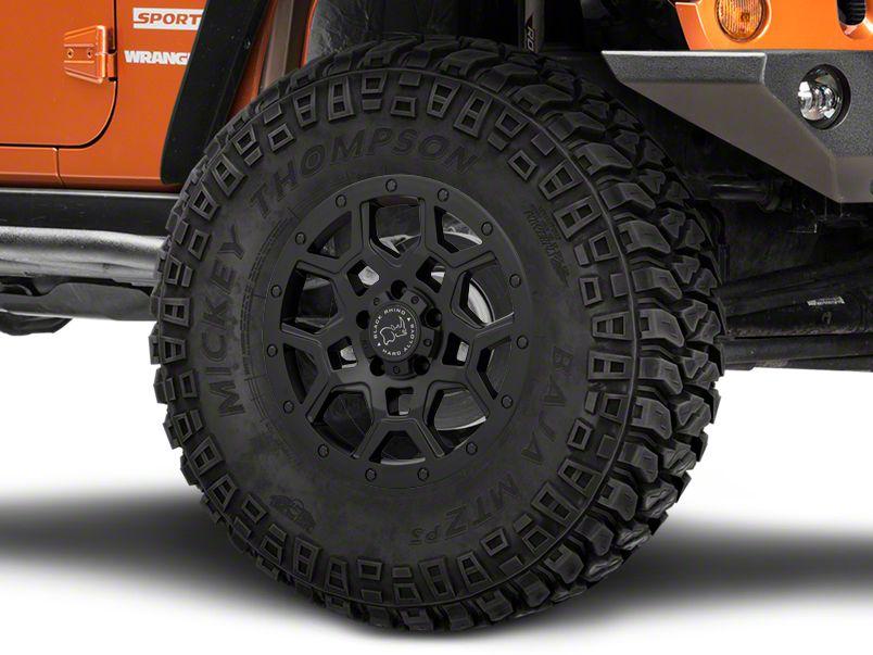 Black Rhino Overland Matte Black Wheels (07-18 Jeep Wrangler JK; 2018 Jeep Wrangler JL)