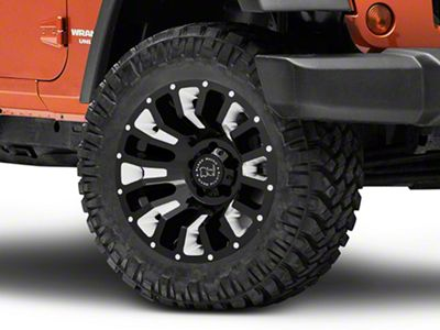 Black Rhino Pinatubo Gloss Black Wheel - 20x12 (07-18 Jeep Wrangler JK; 2018 Jeep Wrangler JL)
