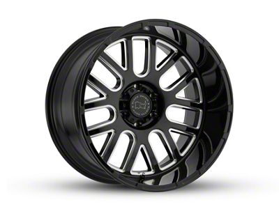 Black Rhino Pismo Gloss Black Wheel - 20x9.5 (07-18 Jeep Wrangler JK; 2018 Jeep Wrangler JL)