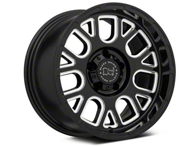 Black Rhino Pismo Gloss Black Wheels (07-18 Jeep Wrangler JK; 2018 Jeep Wrangler JL)
