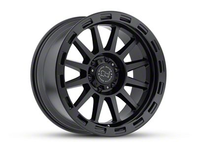 Black Rhino Revolution Matte Black Wheel - 17x9 (07-18 Jeep Wrangler JK; 2018 Jeep Wrangler JL)