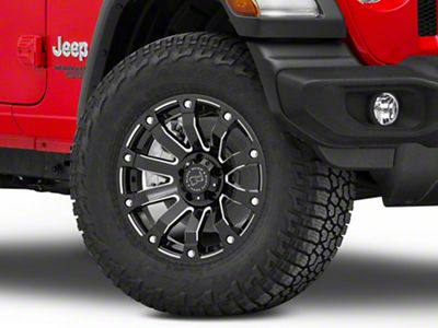 Black Rhino Selkirk Gloss Black Milled Wheel - 17x9 (18-19 Jeep Wrangler JL)