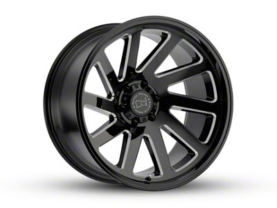 Black Rhino Thrust Gloss Black Wheel - 17x9.5 (07-18 Jeep Wrangler JK; 2018 Jeep Wrangler JL)