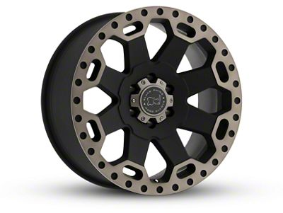 Black Rhino Warlord Matte Black Machined Wheel - 17x8 (18-19 Jeep Wrangler JL)