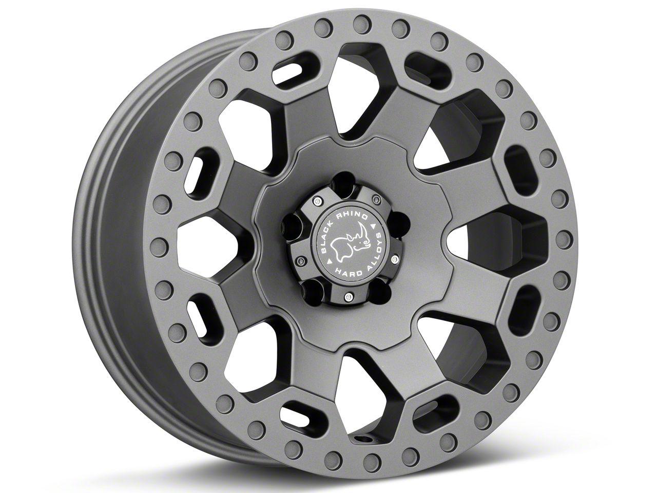 Black Rhino Warlord Matte Gunmetal Wheels (07-18 Jeep Wrangler JK)