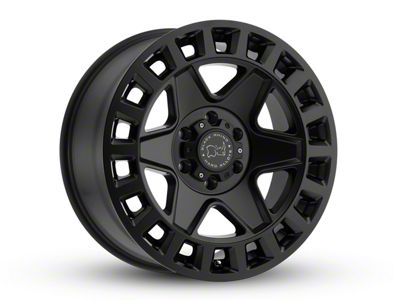 Black Rhino York Matte Black Wheel - 17x8 (07-18 Jeep Wrangler JK; 2018 Jeep Wrangler JL)