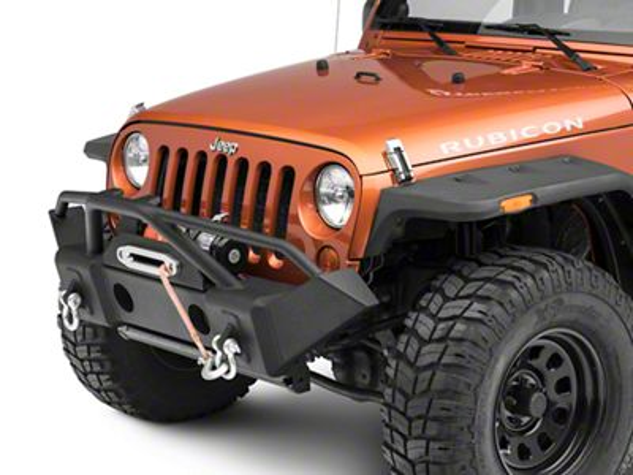 RedRock 4x4 Avenger Front Bumper w/ Winch Mount (07-18 Jeep Wrangler JK)