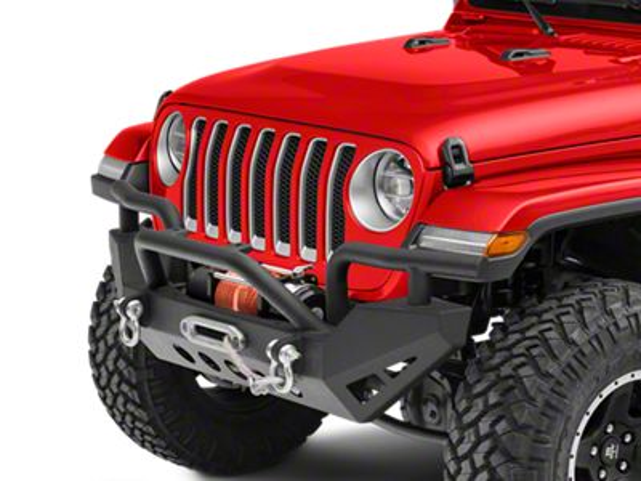 RedRock 4x4 Rock Crawler Full Width Front Bumper w/ Winch Mount (2018 Jeep Wrangler JL)