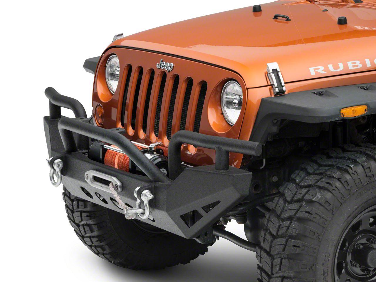 RedRock 4x4 Rock Crawler Full Width Front Bumper w/ Winch Mount (07-18 Jeep Wrangler JK)