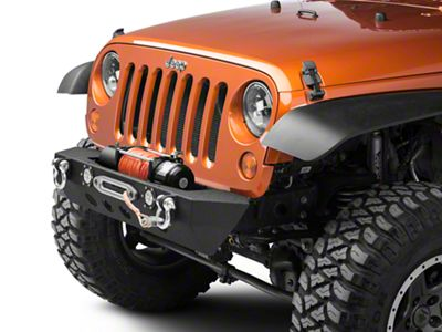 RedRock 4x4 Stubby Front Bumper w/ LED Fog Lights & Winch Mount (07-18 Jeep Wrangler JK)