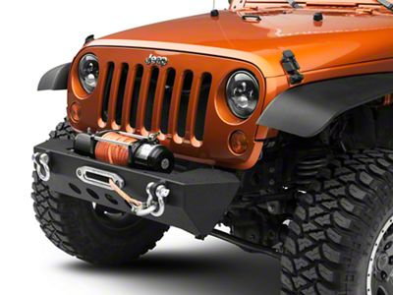 RedRock 4x4 Stubby Front Bumper w/ Winch Mount (07-18 Jeep Wrangler JK)