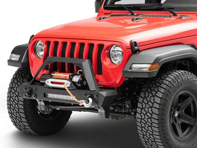RedRock 4x4 Max-HD Stubby Front Bumper w/ LED Light Bar & Winch Mount (2018 Jeep Wrangler JL)