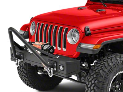 RedRock 4x4 Stubby Front Bumper w/ LED Fog Lights & Winch Mount (18-19 Jeep Wrangler JL)