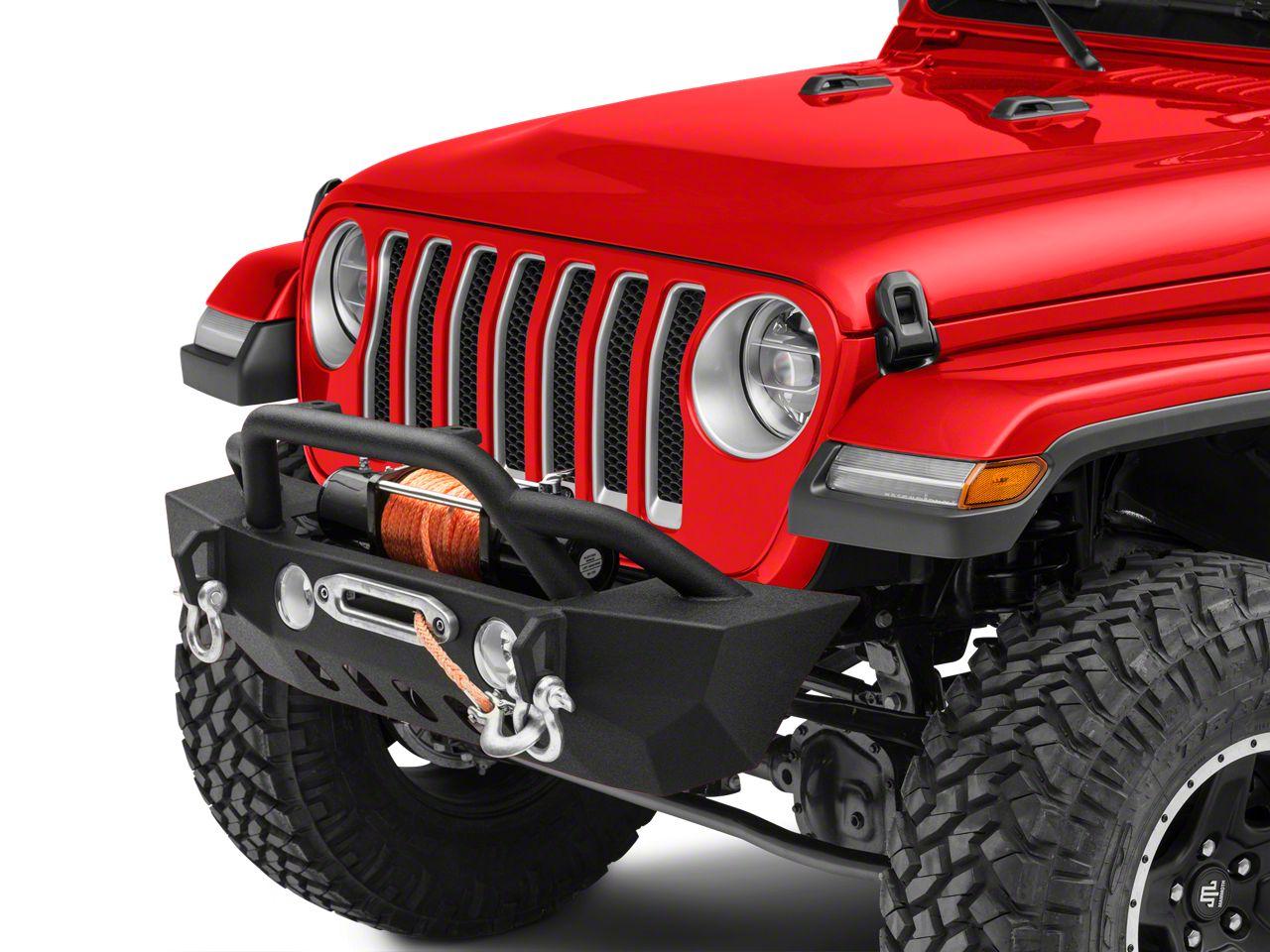 RedRock 4x4 Crawler Stubby Front Bumper w/ Winch Mount (2018 Jeep Wrangler JL)
