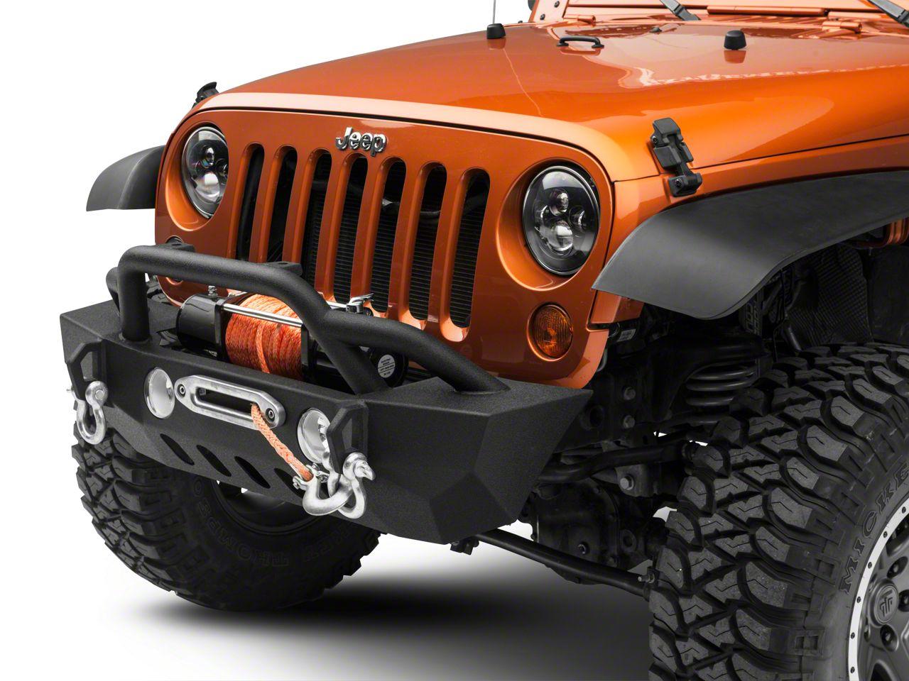 RedRock 4x4 Crawler Stubby Front Bumper w/ Winch Mount (07-18 Jeep Wrangler JK)