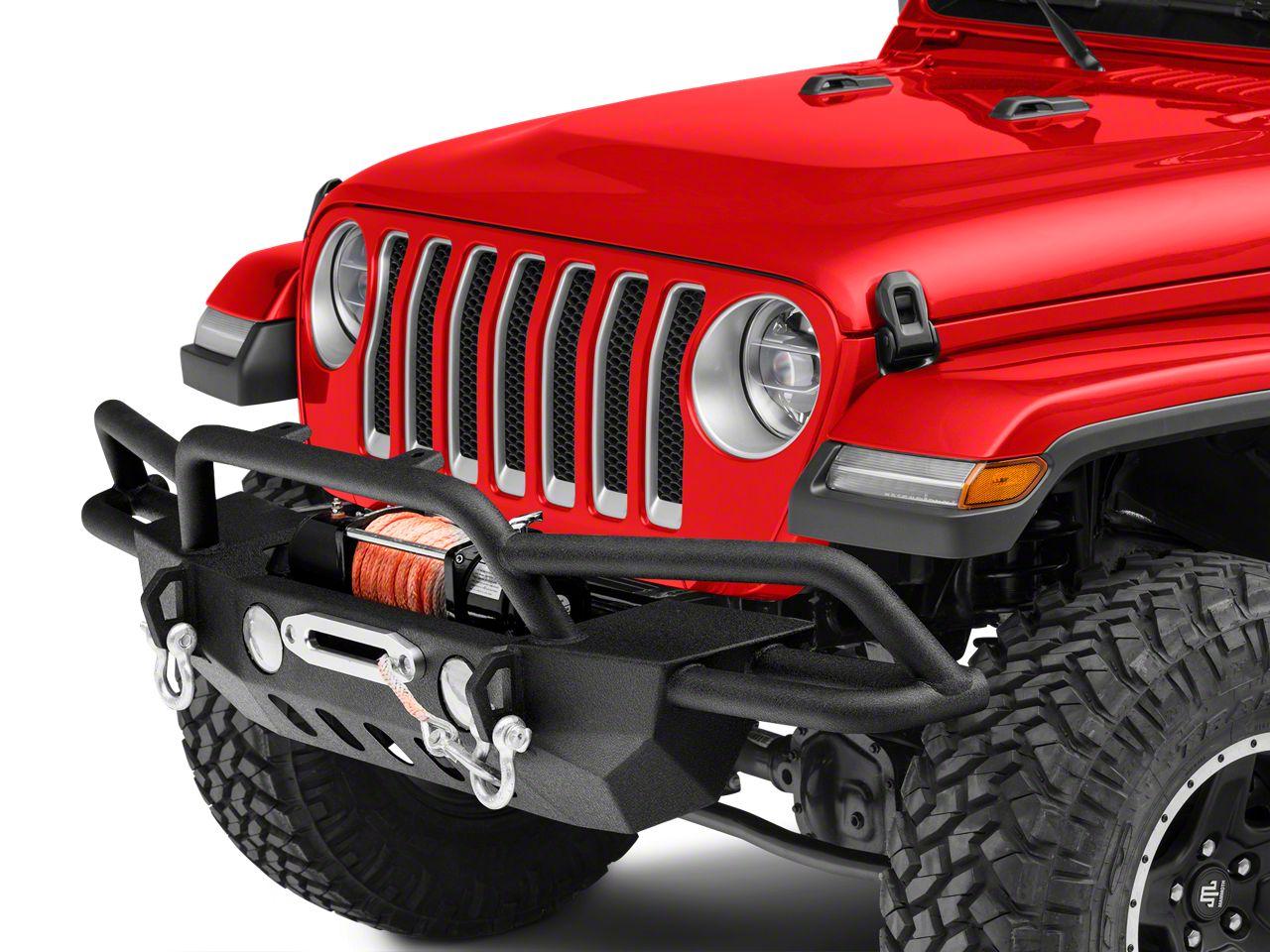 RedRock 4x4 Crawler-Max Full Width Front Bumper w/ Winch Mount (2018 Jeep Wrangler JL)