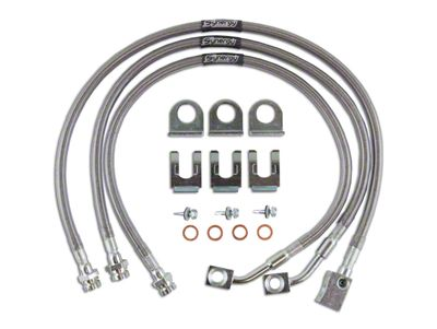 Synergy Extended Brake Lines for 0-4 in. Lift (97-06 Jeep Wrangler TJ)