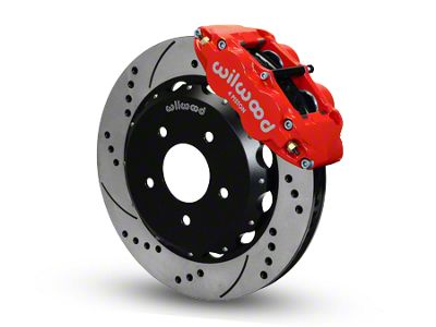 Wilwood Superlite 4R Front Brake Kit w/ Drilled & Slotted Rotors - Red (07-18 Jeep Wrangler JK)