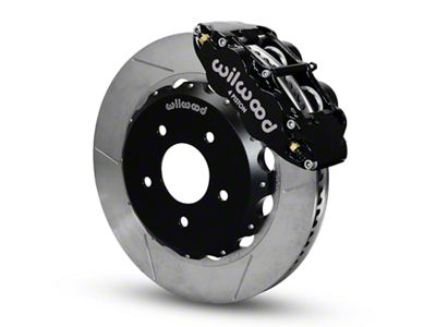 Wilwood Superlite 4R Front Brake Kit w/ Slotted Rotors - Black (07-18 Jeep Wrangler JK)