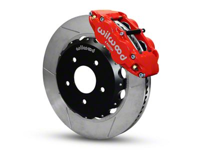 Wilwood Superlite 4R Front Brake Kit w/ Slotted Rotors - Red (07-18 Jeep Wrangler JK)