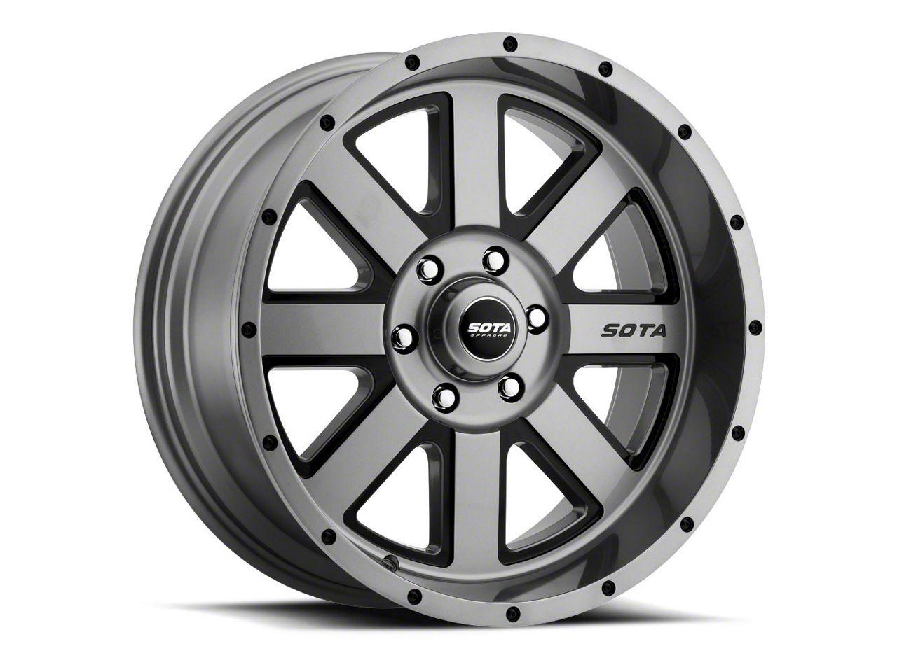 SOTA Off Road A.W.O.L. Anthra-Kote Black Wheel - 20x10 (18-19 Jeep Wrangler JL)